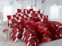 Welhouse India Cotton Floral Red Double Bedsheet With 2 Contrast Pillow Covers(cld-012)