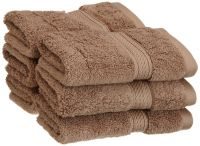 Welhouse India 6 Piece 100% Cotton Face Towel Set- Brown Fct_n-001