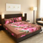 Welhouse India Beautiful Floral Design 1 Double Bedsheet & 2 Pillow Covers