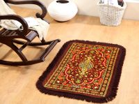 Welhouse India Traditional Design Brown Colour Prayer Mat