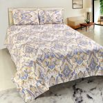 Welhouse India Premium 3d Cotton Double Bed Sheet With 2 Pillow Cover (trt-024)