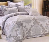 Welhouse India Cotton Damask Design Double Bedsheet With Two Pillow Cover
