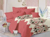 Welhouse Cotton Traditional Blue Double Bedsheet With 2 Contrast Pillow Covers(tc-129)
