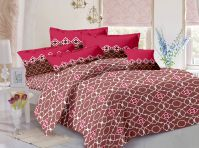 Welhouse Cotton Floral Grey Double Bedsheet With 2 Contrast Pillow Covers(tc-129)
