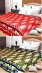 Sai Arpan Plain Double Bed Ac Blanket Buy 1 Get 1 Free_daimondgreen-red