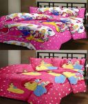 Comforthome 2 Single Printed Polyster Bedsheets With 2 Pillow Cover