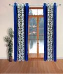 Sai Arpan Blue Contemporary Polyester Curtain