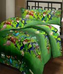 Comforthome Kids Polyster Single Bedding 2pc (1pc Single Bed Sheet And 1pc Pillow Cover)