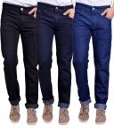 Masterly Weft Trendy Pack Of 3 Mens Cotton Jeans - (code -d-jen-1-2-3-p)