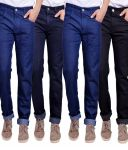 Masterly Weft Trendy Multicolor Pack Of 4 Mens Jeans (product Code - D-jen-1-2-3-3-3)