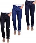 Masterly Weft Trendy Pack Of 3 Mens Cotton Jeans - (code -d-jen-1-2-3-f-p)