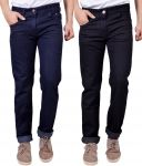 Masterly Weft Awesome Pack Of 2 Mens Cotton Jeans - (code - D-jen-2-1)