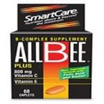 Allbee B-complex Supplement 800mg With Vitamin C And E 60 Caplets Each