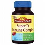 Nature Made Full Strength Minis Super D Immune Complex Softgels (180 Count Bottle)