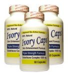 "(3 Pack) Ivory Caps **best Value**- Maximum Potency Glutathione 1500 ""skin Whitening"" Complex"