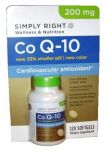 Simply Right Co Q-10 Cardiovascular Antioxidant 200 Mg 120 Softgels