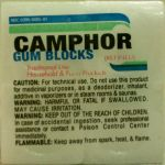 Camphor Gum Blocks 1oz Block By Humco