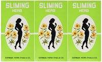 (3 Packs)50 Bags Slimming German Herb Sliming Tea Lose Weight Burn Diet Slim Fit Fast Detox