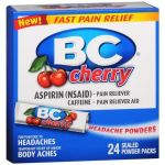 Bc Headache Powders, Cherry 24 Ea Pack Of 2