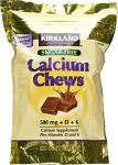 Kirkland Signature Sugar-free Calcium Soft Chews, 500mg, Caramel, 180 Count