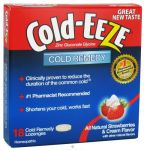 Cold-eeze Cold Remedy Lozenges With Strawberry And Cream Flavor 18 Count