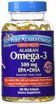 Pure Alaska Alaskan Omega-3 Epa Dha - 180 Softgels