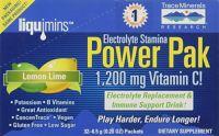 Electrolyte Stamina Power Pak Lemon Lime Trace Minerals 6.5g 32 Packet