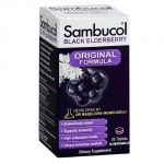 Sambucol Black Elderberry Immune System Support Original Formula Chewable Tablets, 30 Count