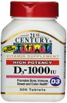 21st Century D 1000 Iu Tablets, 300-count