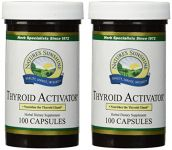 Naturessunshine Thyroid Activator Support Thyroid Gland Herbalcombination Supplement 100 Capsules (pack Of 2)