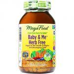Megafood Baby & Me Herb Free Prenatal Vitamins, 120 Count