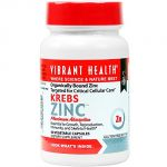 Vibrant Health - Krebs Zinc - Organically Bound Zinc Targeted For Critical Cellular Care, 60 Count