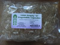 "Capsule Connection 1000 Bulk Empty Vegetarian Capsules, ""0"" Size"