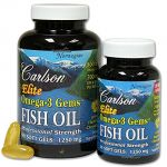Carlson Labs - Norwegian Elite Omega-3 Gems Fish Oil Professional Strength Lemon Flavored 1250 Mg. - Bonus Pack 90 + 30 Softgels