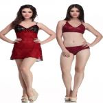 Belle Nuits Combo Of Nightslip With Bikini Set (product Code - Bn120003m-bn10081008ch)