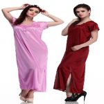 Belle Nuits Pack Of 2 Long Nighties (product Code - Bn2340021dp-m)