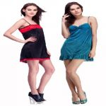 Belle Nuits Pack Of 2 Short Nighties (product Code - Bn310008b-728005t)