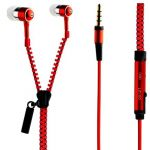 Spider Designs Sd-55 Zip Bass Bomb Earphone With Mic (red)