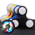 Genuine Laser LED Light Hand Spinner Fidget Toys Aluminium Ceramic Finger Ball