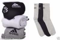 Set Of 6 Pairs - 3 Adidas 3 Jockey Logo Sports Ankle Length Socks