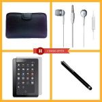 "Vizio 7"" Tablet PC Soft Case In-the-ear Earphone 7"" Tablet PC Screen Protector Stylus Pen-05 - Set Of 4"