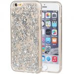 Aeoss Ultra Thin Gold Foil Bling Glitter Soft Silicone Tpu Back Cover Case For iPhone 7