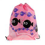 Phenovo Drawstring Swimming Bag Beach Bag Sports Gym Backpack Pink