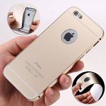 Aeoss Luxury Metal Bumper Acrylic PC Back Cover Case For Apple iPhone 6 Plus 2 In 1 Bumper - Gold