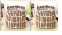 Aeoss Cute Print Cotton Linen Desktop Storage Organizer Underwear Basket