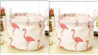 Aeoss Cute Print Cotton Linen Desktop Organizer Sundries Storage Box Cabinet Underwear Basket