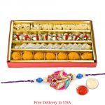 Assorted Sweets With Rakhi For Usa