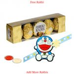 Doraemon Rakhi With Ferrero Rocher For Kids