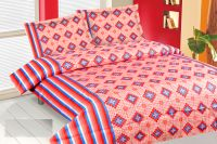 Royal Choice Red Cotton Double Bedsheet Alongwith Two Pillow Covers