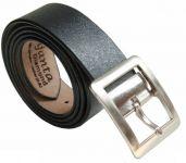 Ksr Etrade 100% Genuine Leather Black Belt For Mens Gents Official And Formal Wear
